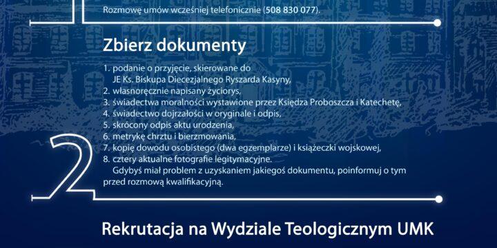 Nabór do Wyższego Seminarium Duchownego Diecezji Pelplińskiej