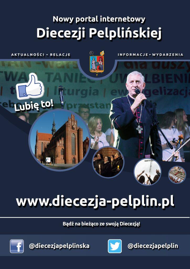 Plakat Nowy portal Diecezji Pelplińskiej